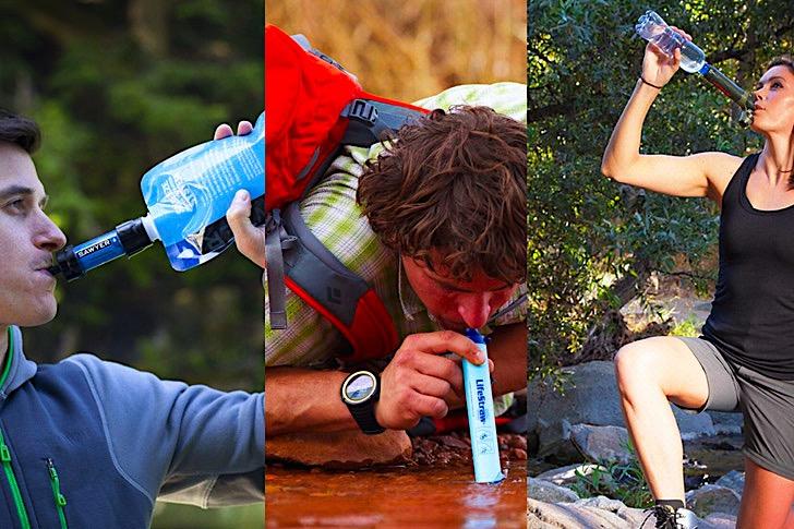 Personal Water Filter Comparison Sawyer Lifestraw