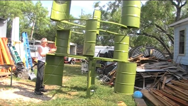 55 gallon drum turbine