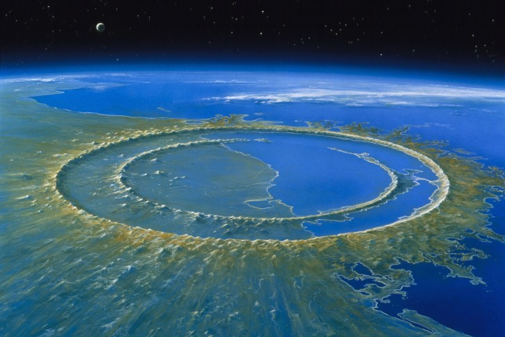 Crater from Asteroid