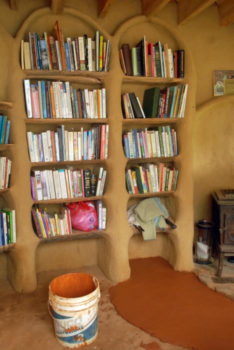 Cob Bookshelves