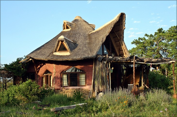 Cob Home with Thatch Roof