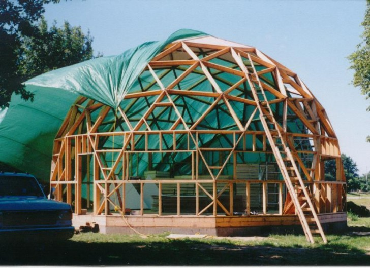 Geodesic Dome Under Construction