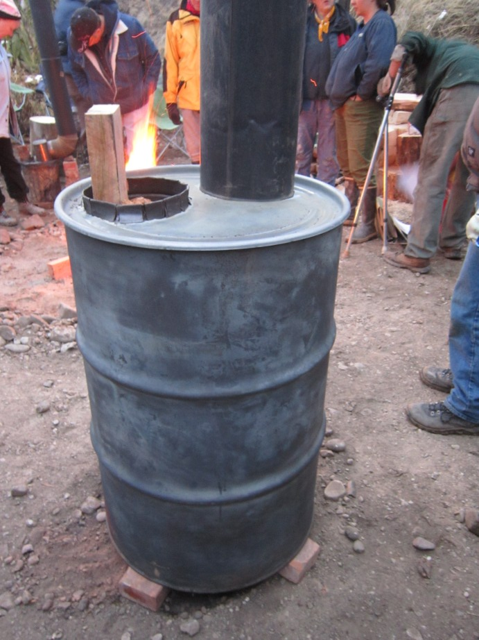 Rocket Stove 55 Gallon Drum