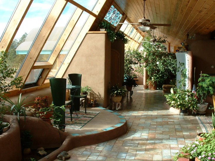 View from within an Earthship
