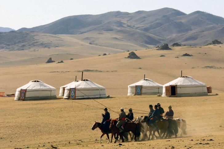 Mongolian Desert Yurt Homes