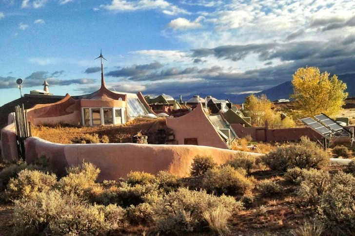 Earthship in Desert