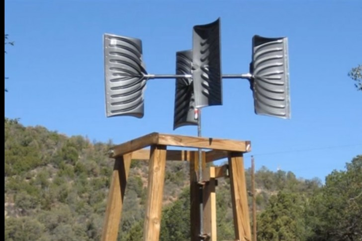 Snow Shovel Wind Turbine