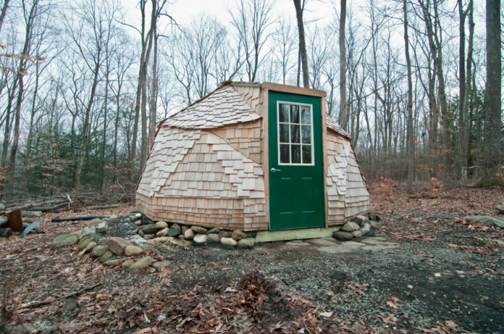 Tiny Geodesic Dome in the Woods