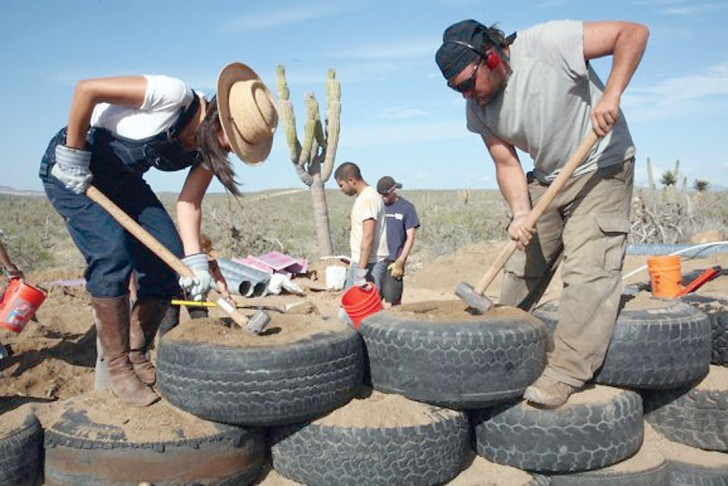 Earthship Home Construction