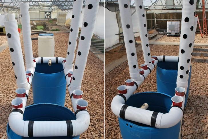 55 Gallon Drum Vertical Aquaponics