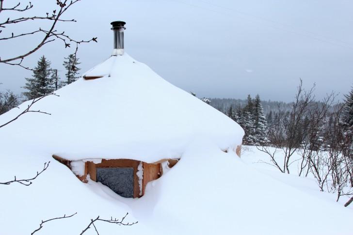 Winter Alaska Yurt