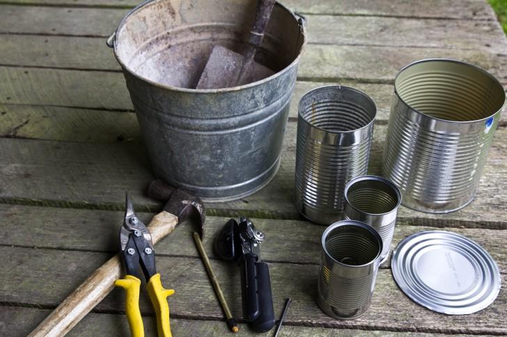 Tin can rocket stove materials for Tin can rocket stove