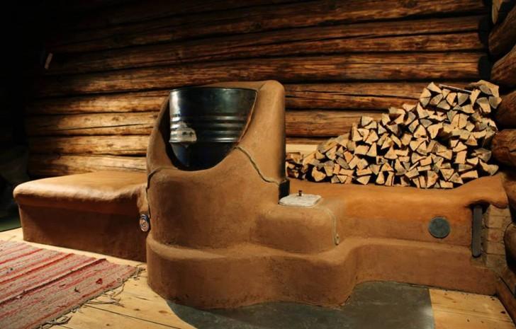 Clay Rocket Stove in Estonia