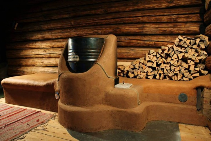 Clay Rocket Stove in Estonia