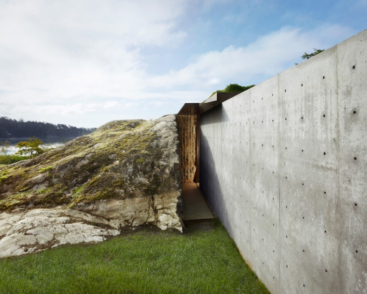 Camouflaged Concrete Home